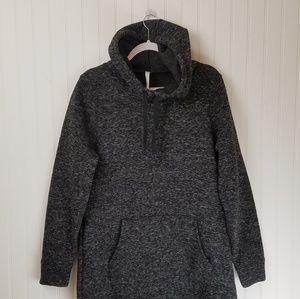 Fabletics Dresses - Fabletics Dark Gray Sweatshirt Hoodie Dress